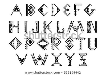 tribal native set of symbols stock photo © balabolka