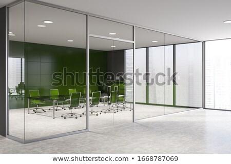 Modern tárgyaló terv asztal bútor munkahely Stock fotó © Digifoodstock