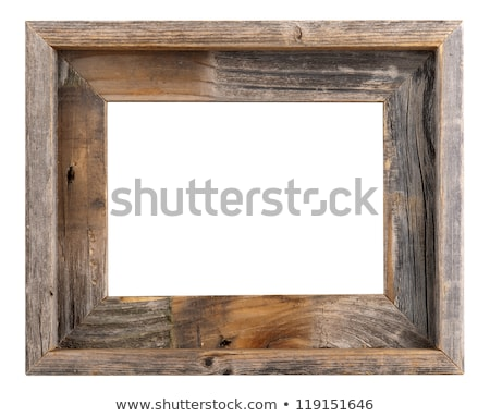 空っぽ 古い木材 フレーム 孤立した 白 木材 ストックフォト © plasticrobot