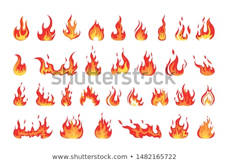 Set of flames Stock photo © bluering