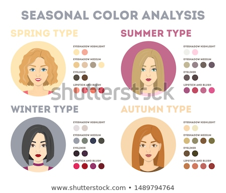 beauty blonde in cold colours Stock photo © seenad