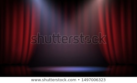 nyitva · színház · függönyök · 3d · render · mutat · piros - stock fotó © stevanovicigor