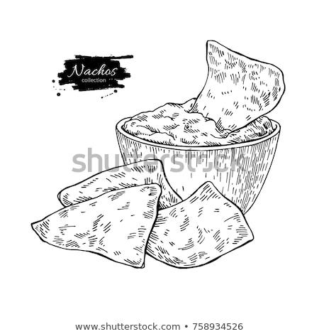 トルティーヤ チップ ディップ 食品 トウモロコシ ビュッフェ ストックフォト © M-studio