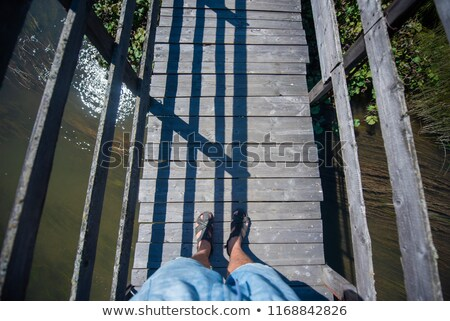 A bridge above the river Stock photo © bluering