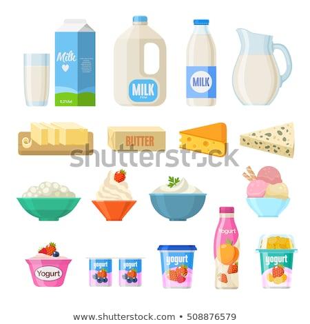 tejtermékek · étel · ital · ikonok · vektor · ikon · gyűjtemény - stock fotó © robuart