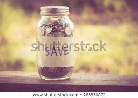 Segítség megtakarítás nap számológép néhány malac Stock fotó © idesign