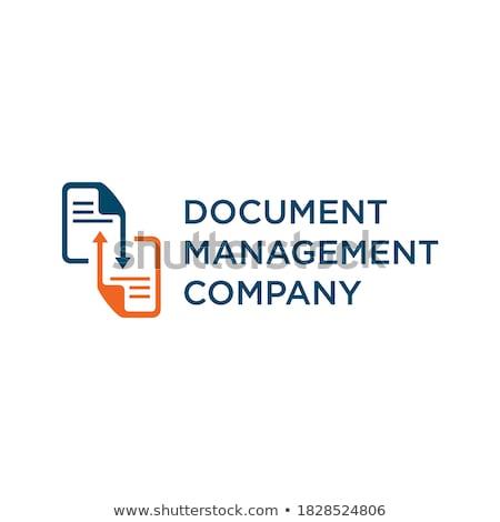 архив · дизайн · логотипа · бумаги · веб · печать · службе - Сток-фото © sdCrea