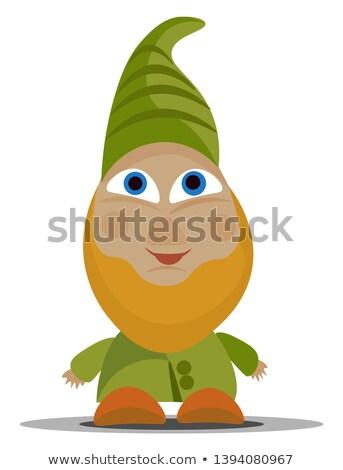 Verde nano sorridere piedi cartoon illustrazione Foto d'archivio © derocz