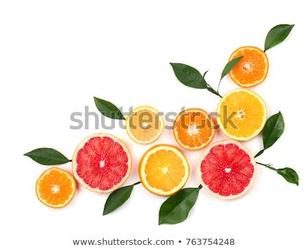 Cropped image of ripe fresh citrus fruits Stock photo © deandrobot