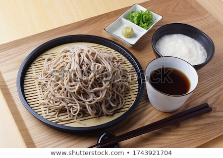 Chilled Soba Noodles With Wasabi and Soy Sauce Stock photo © monkey_business