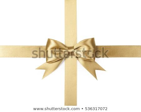 Brillante oro raso cinta blanco vector Foto stock © fresh_5265954