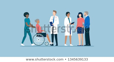 Handicapped man and doctor  Stock photo © LightFieldStudios