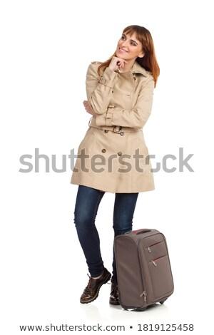 женщину · красоту · случае · окна · путешествия · спальня - Сток-фото © dotshock