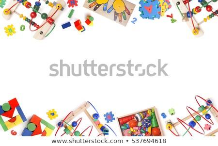Many toys on white background Stock photo © bluering