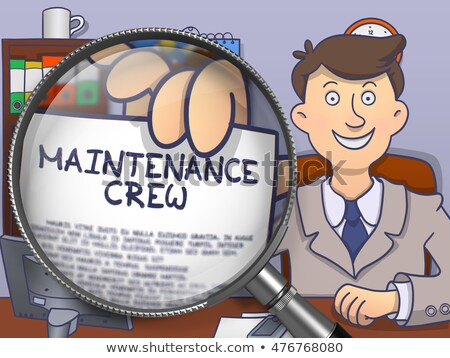 Maintenance Crew through Lens. Doodle Style. Stock photo © tashatuvango