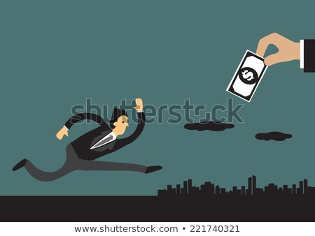 illustration of businessman chasing after money. Stock photo © curiosity