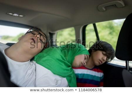 Adormecido de volta assento carro bonitinho Foto stock © wavebreak_media