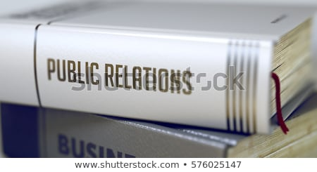 Book Title on the Spine - Relations. 3D. Stock photo © tashatuvango