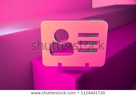 Tarjeta negocios mail 3D blanco moderna Foto stock © tashatuvango