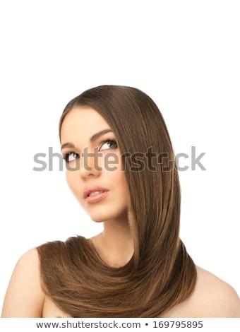 woman with hair around neck stock photo © julenochek