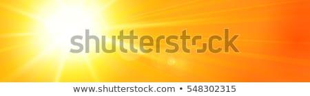 Sun With Banner Stockfoto © wenani