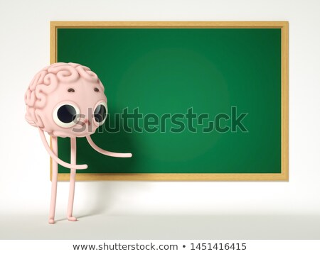 chalkboard with headache 3d illustration stock photo © tashatuvango