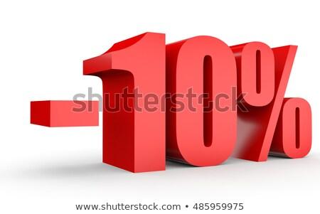 Rood minus tien procent teken geïsoleerd Stockfoto © Oakozhan
