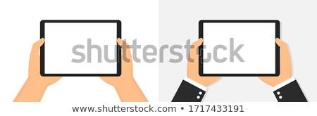Mão comprimido topo ver realista sombra Foto stock © Sonya_illustrations