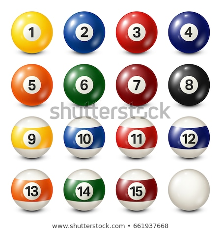 vector collection of billiard pool balls with numbers stock photo © freesoulproduction