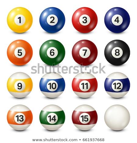 Vektor gyűjtemény biliárd medence golyók számok Stock fotó © freesoulproduction