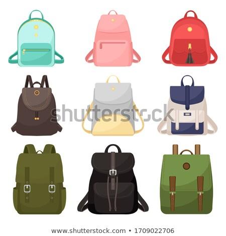 Set of different backpacks, men, women and unisex. Backpacks isolated on white background. An illust Stock photo © Arkadivna