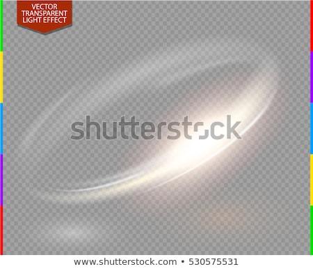 transparent · or · lumière · effet · vecteur · résumé - photo stock © sarts