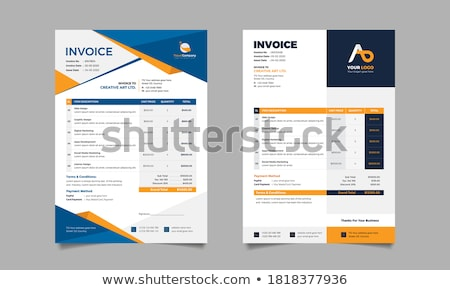 invoice template layout design vector Stock photo © SArts