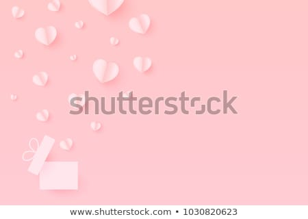 White hearts on space background Stock photo © Sonya_illustrations