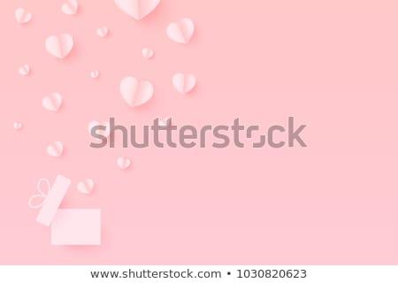 Beyaz kalpler uzay vektör toplama Stok fotoğraf © Sonya_illustrations