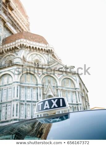 Taksi dışında Floransa İtalya imzalamak tatil Stok fotoğraf © IS2