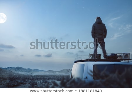 Young man by camper van Stock photo © IS2