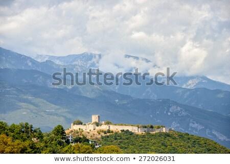 Médiévale forteresse Grèce Resort plage nuages Photo stock © mahout