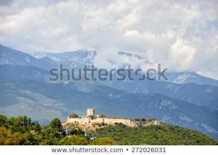 medieval · fortaleza · Grecia · Resort · playa · nubes - foto stock © mahout