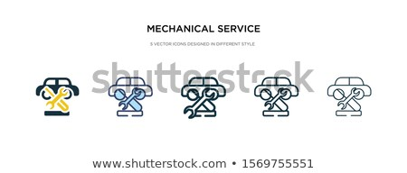 gear icon in different style stock photo © sidmay