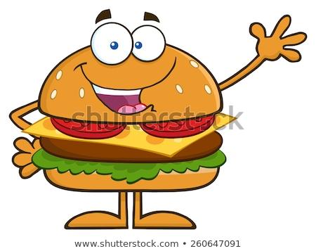 Gelukkig kaas cartoon mascotte karakter geïsoleerd Stockfoto © hittoon