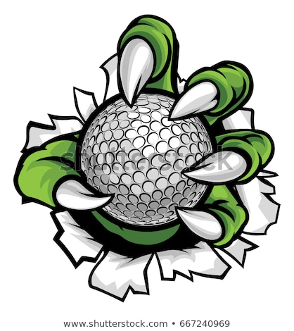 Monstre animaux griffe balle de golf design Photo stock © Krisdog