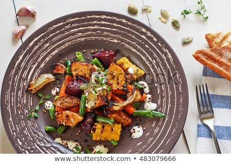 Sebze salata patlıcan soğan Stok fotoğraf © guillermo
