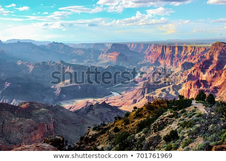Grand · Canyon · ver · sul · pôr · do · sol · luz - foto stock © phbcz