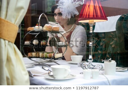 Tea drinking in a compartment Stock photo © Pozn
