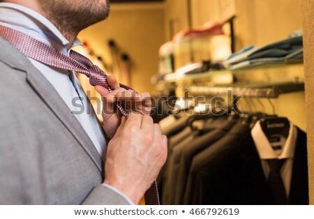 男 · ネクタイ · 服 · ストア · ミラー - ストックフォト © dolgachov