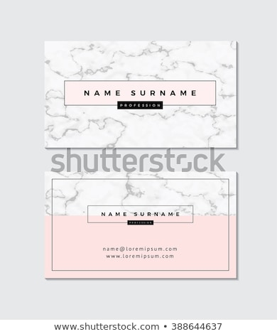 elegant business card with marble texture template Stock photo © SArts