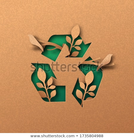 Bio ecológico palavra branco cerca Foto stock © tashatuvango
