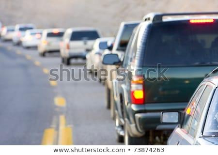 Korku Arizona USA samochodu drogowego niebezpieczeństwo Zdjęcia stock © phbcz
