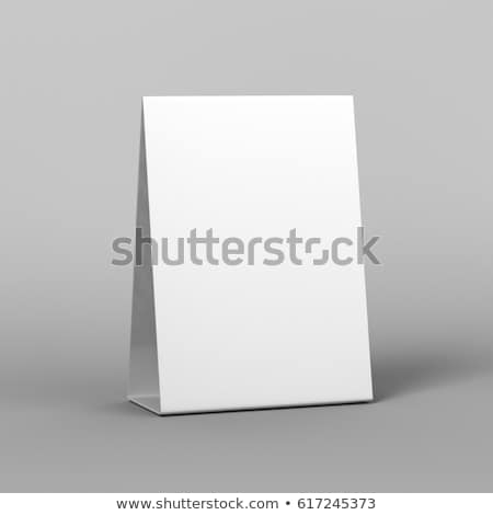 Mock up menu frame on table. 3D Stock photo © user_11870380